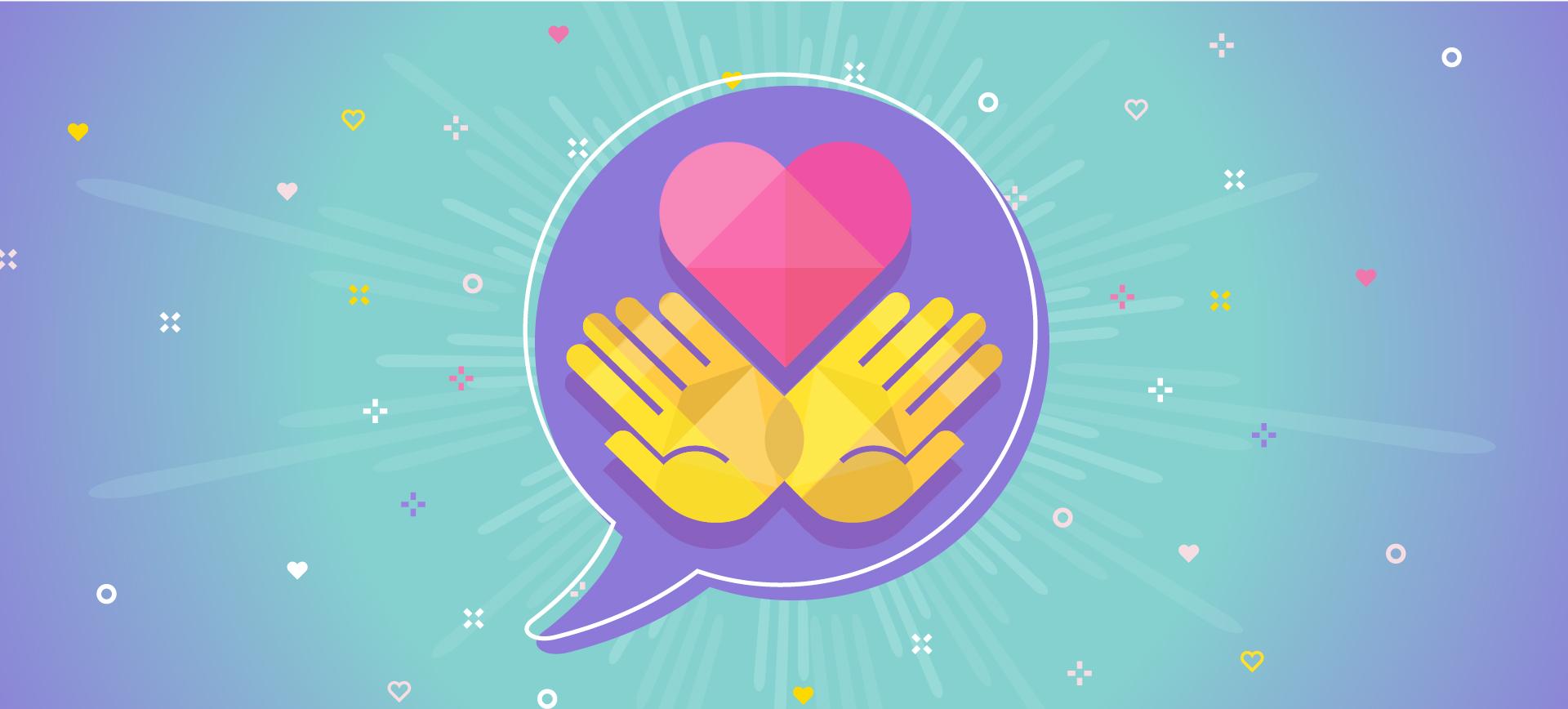 Heart in Hands banner